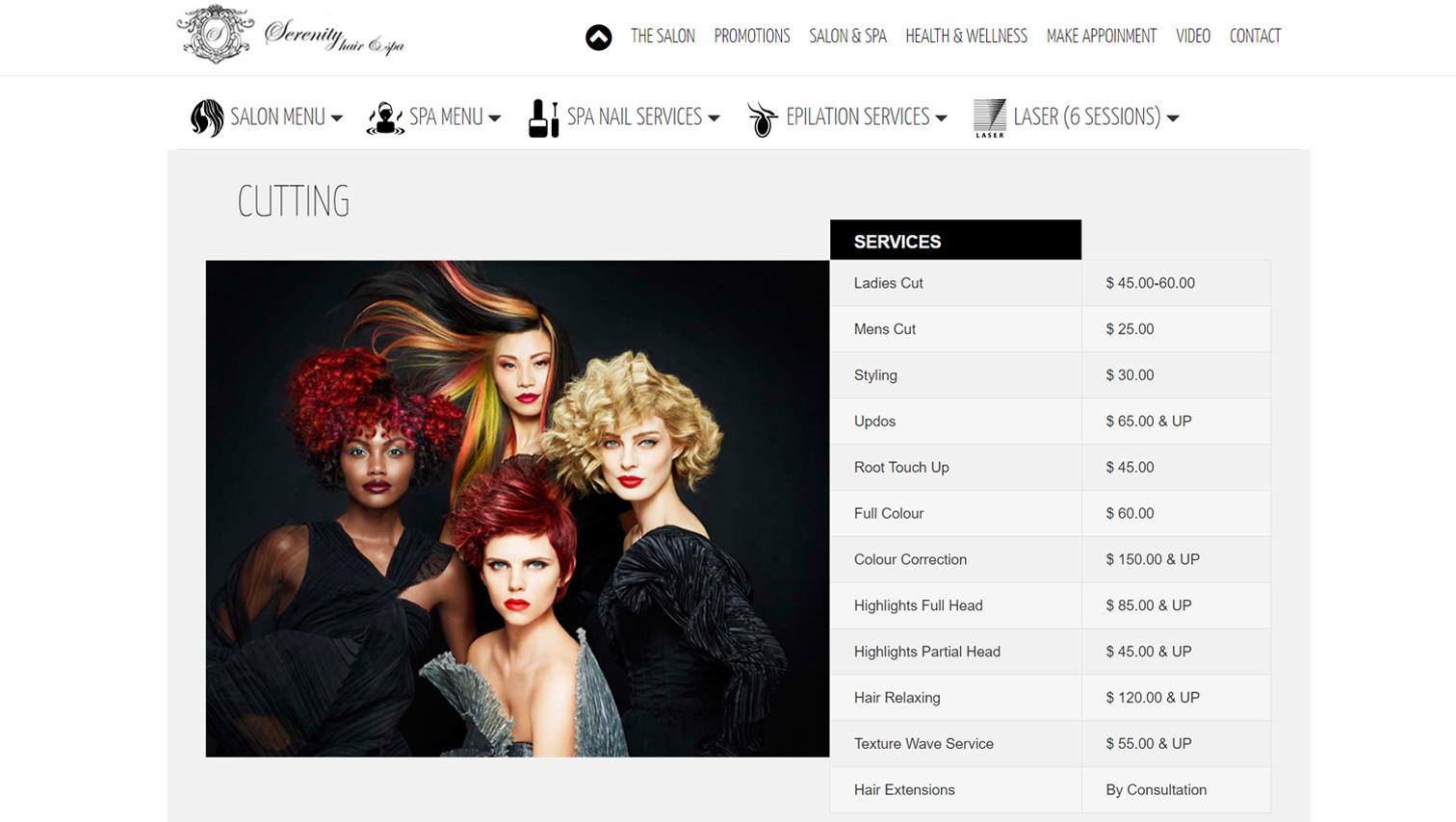 Serenity- CGart web design toronto