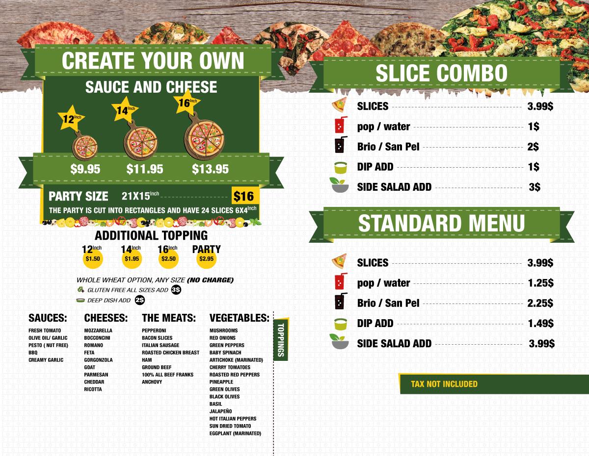 Pizza Ego and Pala-CGArt Graphic design toronto